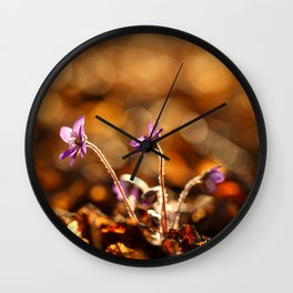 Wonderful Moment In Forest Springtime #decor #society6 Wall Clock