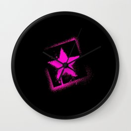 star stamp Wall Clock
