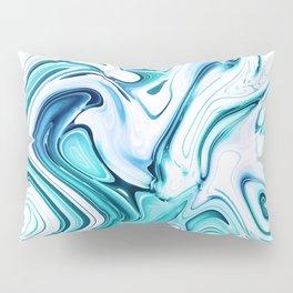 Liquid Marble - aqua & blues Pillow Sham