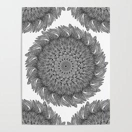 Mandala Leaf Universe Meditation Poster