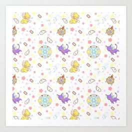 cardcaptor sakura kawaii pattern Art Print