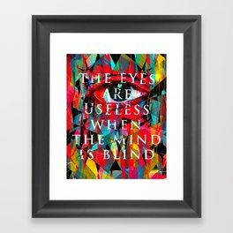 Useless Eyes Framed Art Print