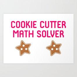 Cookie Math Solver Funny Christmas Teacher Art Print