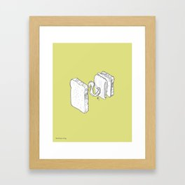 Exploded Turkey Sandwich Drawing Framed Art Print