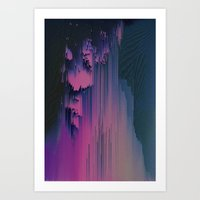 fringe Art Prints featuring Pink Fringe by DuckyB