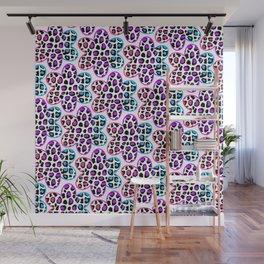 Rainbow Leopard Flower Wall Mural