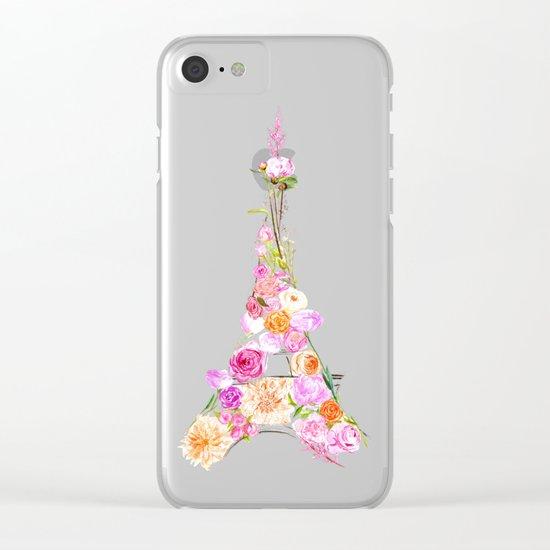 Paris in Bloom Clear iPhone Case