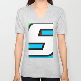 Number POP-5 Unisex V-Neck