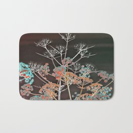 WILDFLOWERS in RED Bath Mat