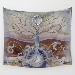 winter in the garden of eden Wall Tapestry