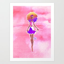 Fashion Illustration Babe 3 Art Print