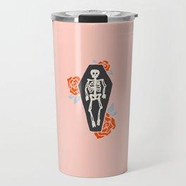 Inktober Day 16 - Skeleton Travel Mug