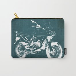 2010 Moto Guzzi Stelvio 1200 4V blue blueprint Carry-All Pouch