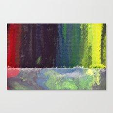 CRAYON LOVE: Rainbow Falls Canvas Print