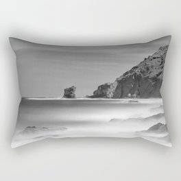 Water. Volcanic rocks. Monochrome Rectangular Pillow