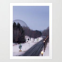 Montréal in November (8 of 11) Art Print