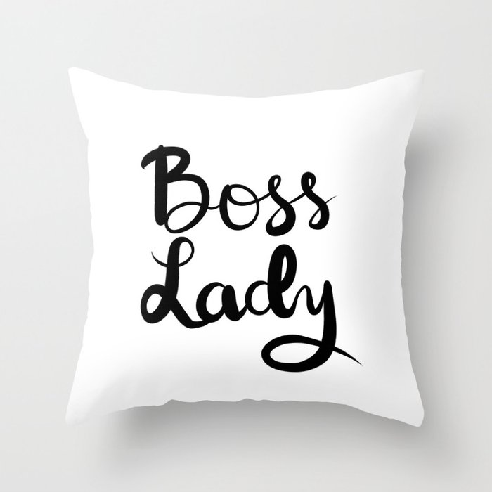 Boss Lady Throw Pillow