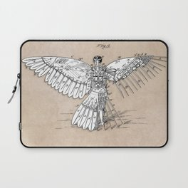 patent art Spalding Flying Machine  1889 Laptop Sleeve