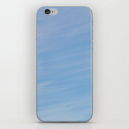 Wispy Blue iPhone Skin