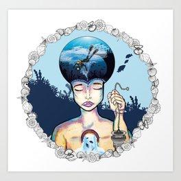 Bubblehead Art Print