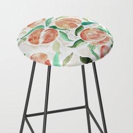 Watercolor Peaches Bar Stool