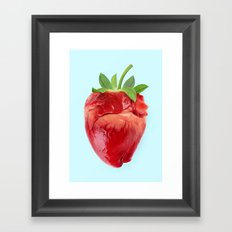 STRABERRY HEART Framed Art Print