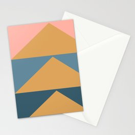 Modern Geometric Triangle Art Stationery Cards