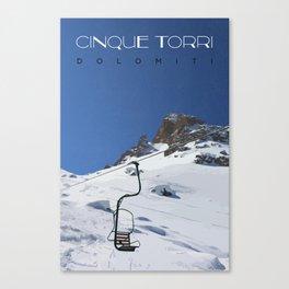 Cinque Torri Canvas Print