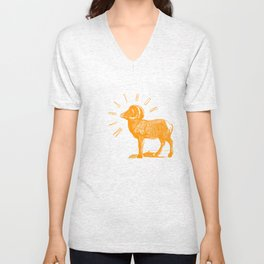 RAM TEE ORANGE Unisex V-Neck