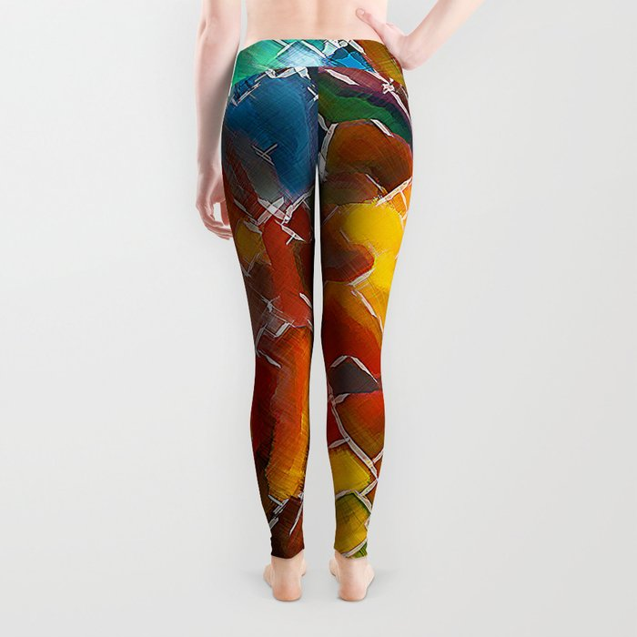 Upright Stained Twist Leggings