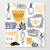 kitchen Canvas Prints featuring Kitchen by Jessica Phillips