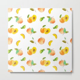 peach pattern / melocotones Metal Print