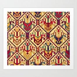 Kilim Fabric Art Print