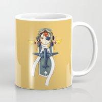 pilot Mugs featuring Pilot Banner by Freeminds
