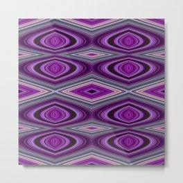 3D Square pattern Metal Print
