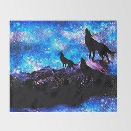 Wolf Trio Throw Blanket