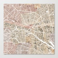 berlin Canvas Prints featuring Berlin by Mapsland