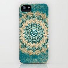 GOLD BOHOCHIC MANDALA IN GREENS Slim Case iPhone (5, 5s)