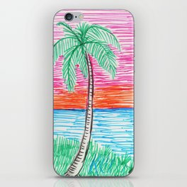 palm view iPhone Skin