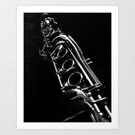 B&W Clarinet Art Print