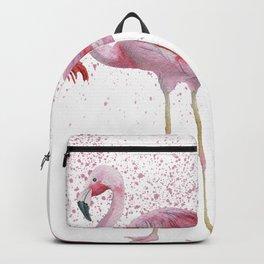 Three Flamingos #society6 Backpack
