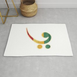 Colorful Bass Clef Rug