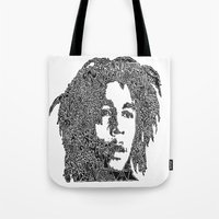 marley Tote Bags featuring Marley by Travis Poston