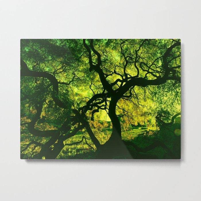 Green is the Tree Metal Print