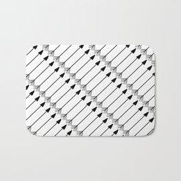 Tribal Art Arrows, Black and White Pattern Bath Mat