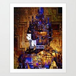 Dakini Wisdom Goddess #2 Neo Geo Tech Art Print