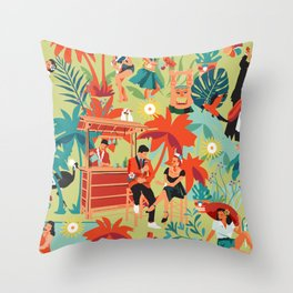 Resort living Throw Pillow