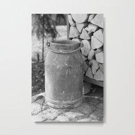 Old milk jug Metal Print