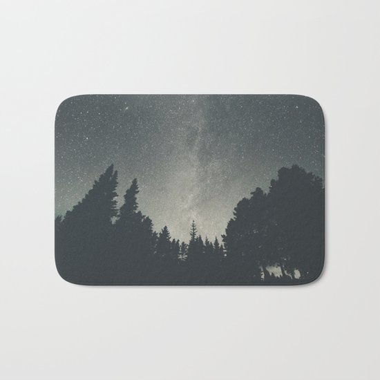 Stars over the forest II Bath Mat
