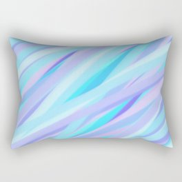 Pastel Pink, Purple, and Light Blue Stripes Rectangular Pillow
